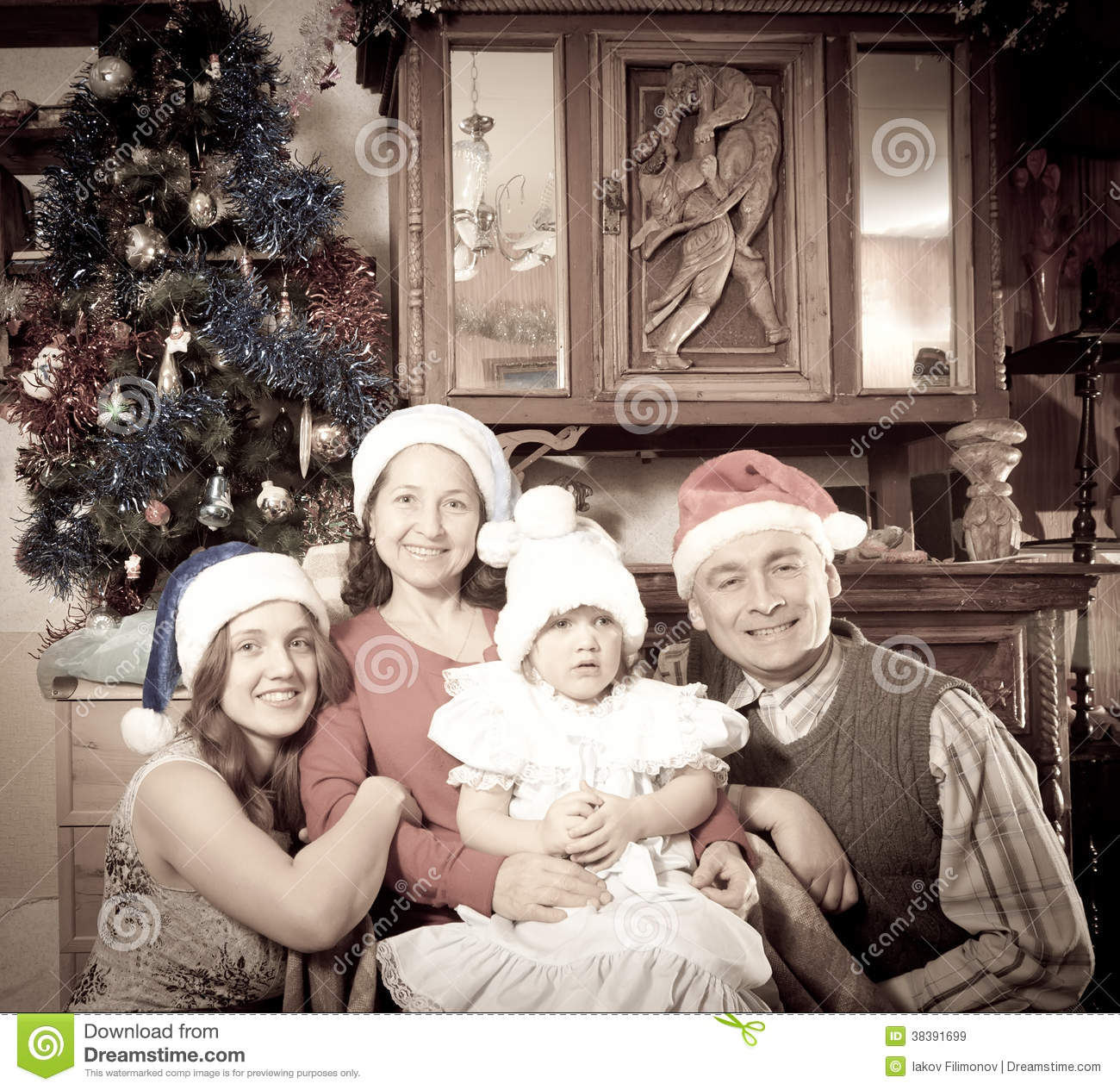 Old Photo Of Happy Family Royalty Free Stock Images ...