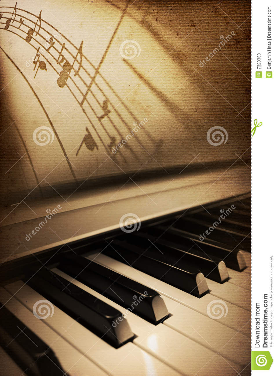 Old piano elegance