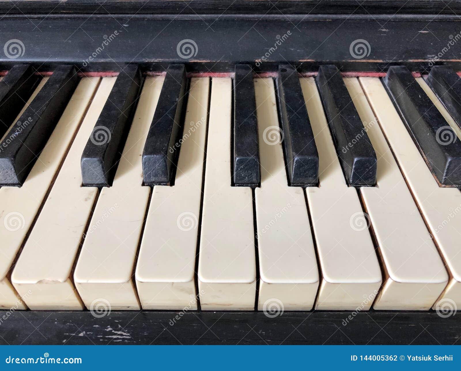 Old piano keys  stock photo  Image of harmony, classical