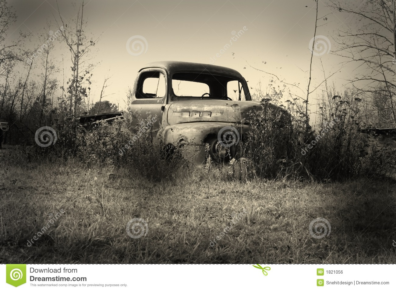 Old Pick Up Truck Royalty Free Stock Image Image 1821056