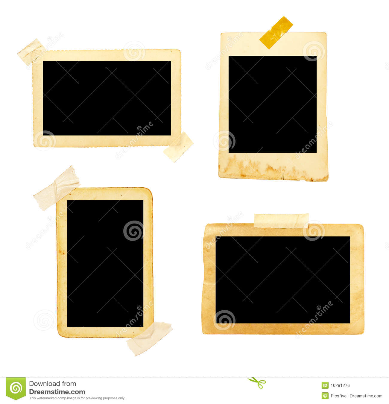 Old picture frame group stock photo. Image of pattern - 10281276