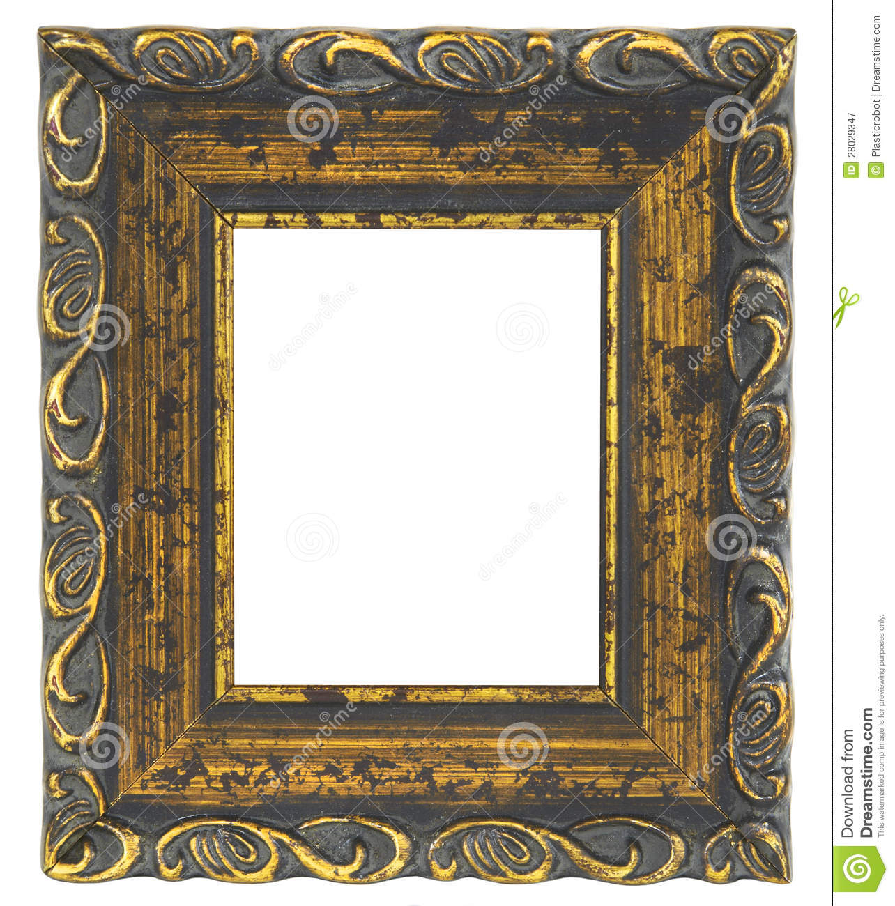 Old Picture Frame On White Background Royalty Free Stock ...