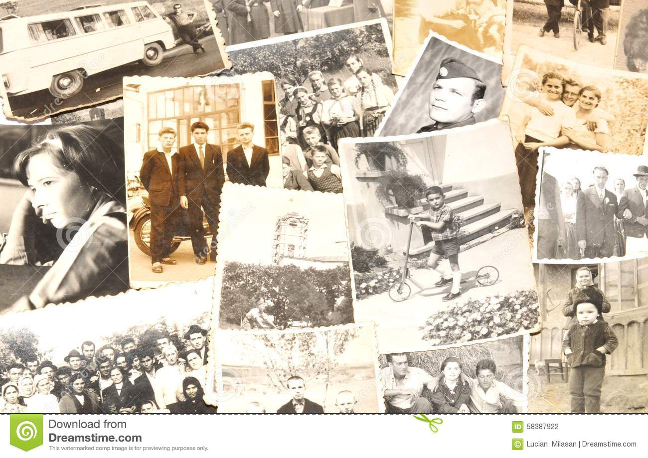 Download Old pictures stock photo. Image of people, memories, photography - 58387922