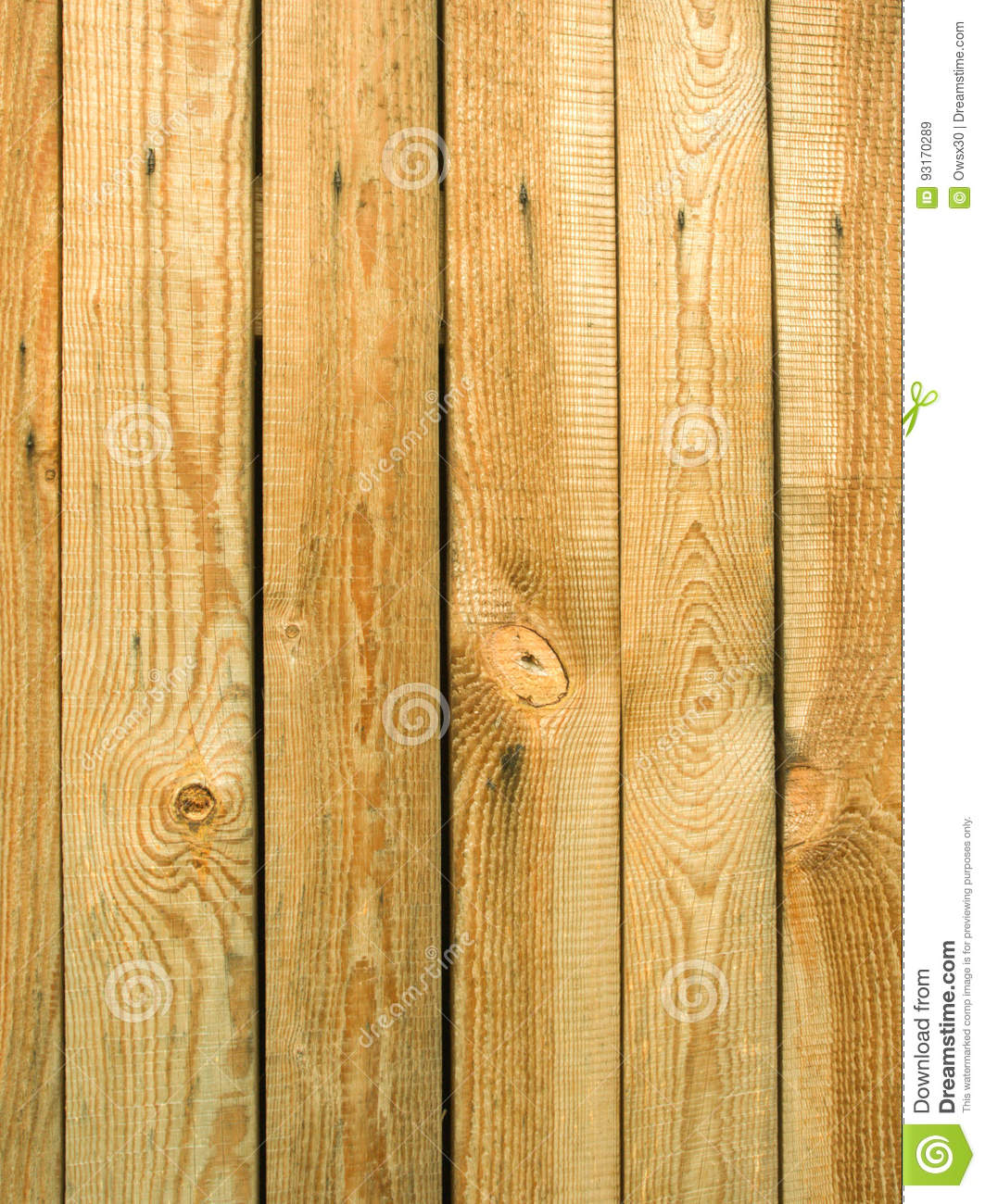 Old Pine Vertical Wood Planks As Background Stock Image