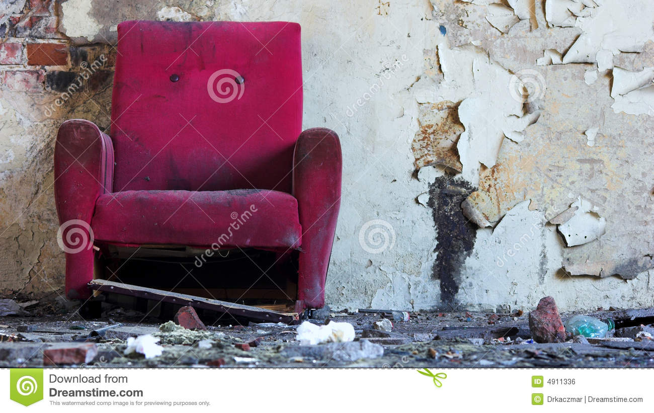 Old pink chair