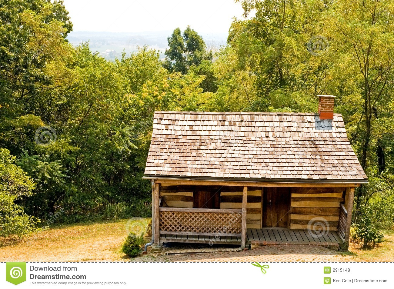 Old Pioneer Log Cabin Royalty Free Stock Photos Image
