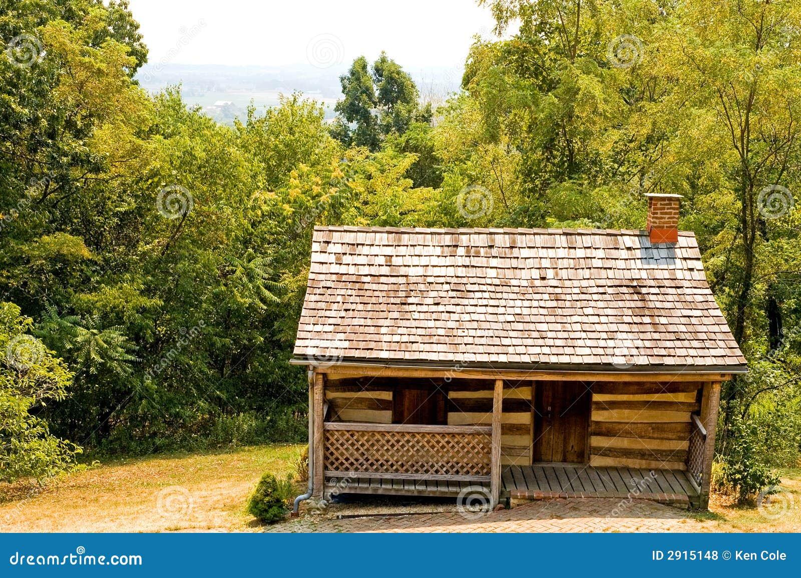 old pioneer log cabin stock photo image of building wood 2915148. Black Bedroom Furniture Sets. Home Design Ideas
