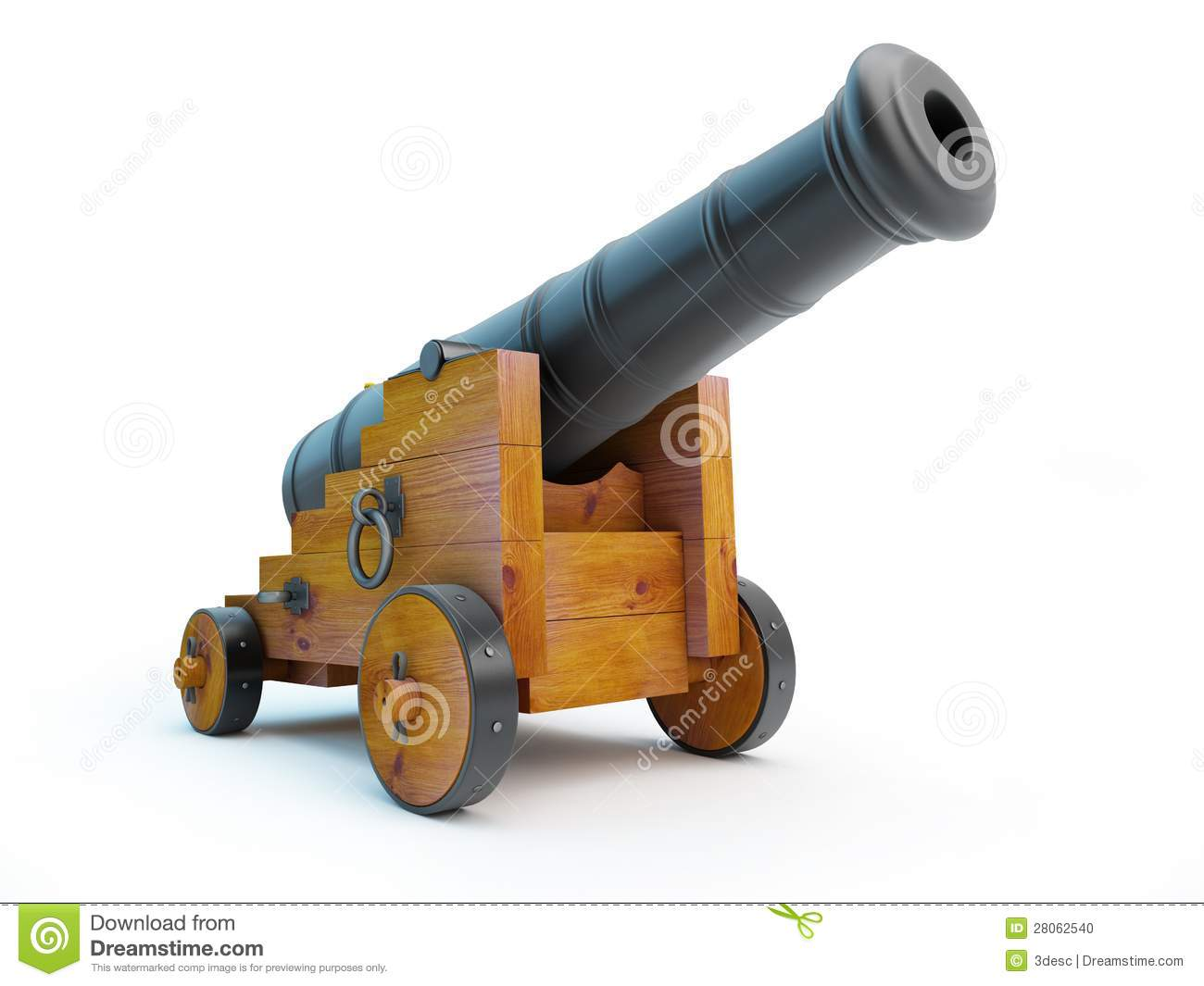 Old Pirate Cannon Stock Illustration Image Of Nautical