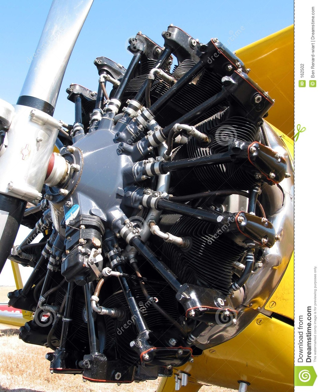 Old Plane Engine Close-up. Stock Photography - Image: 162502