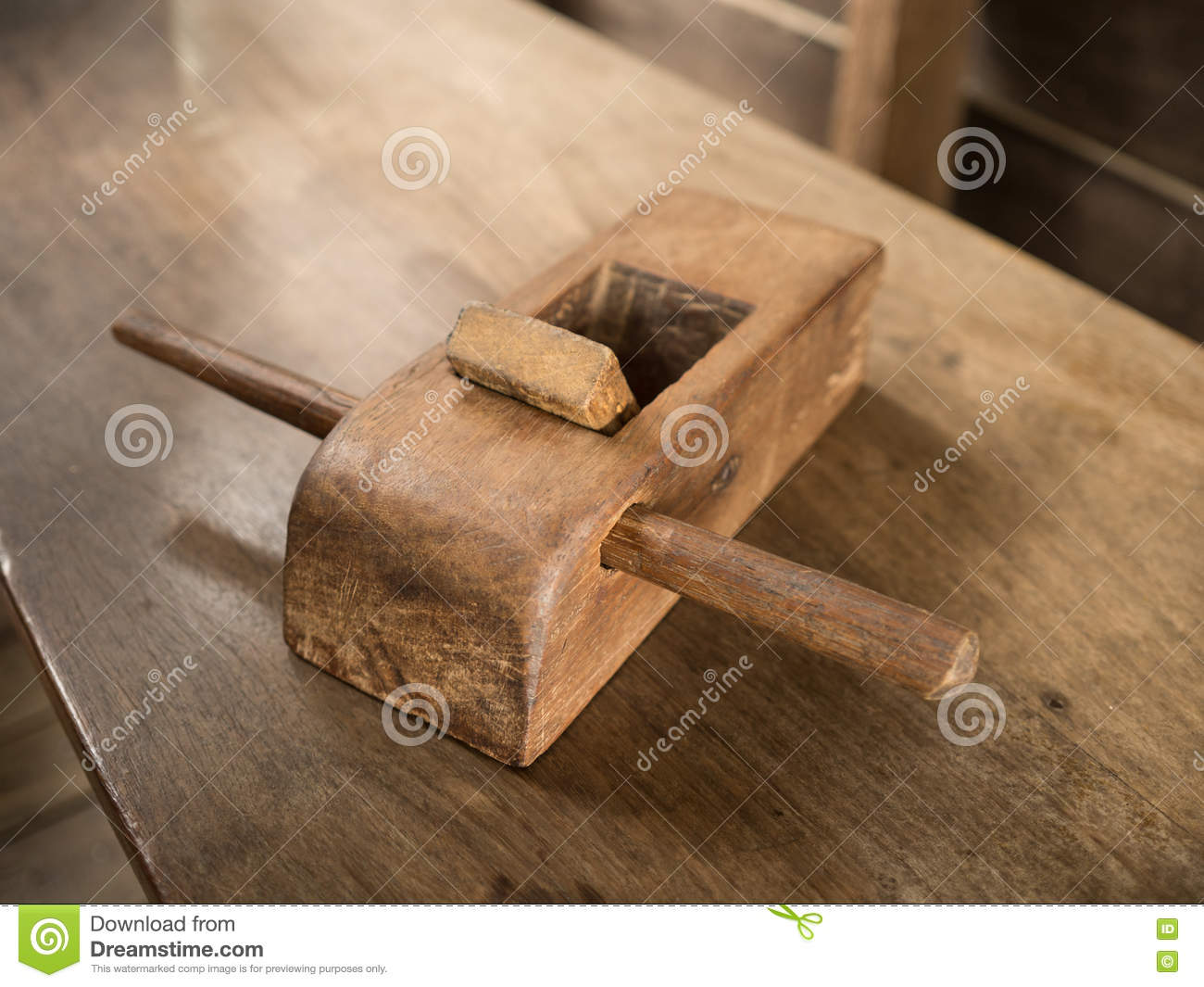 old plane for woodwork. stock image. image of plane, shadow