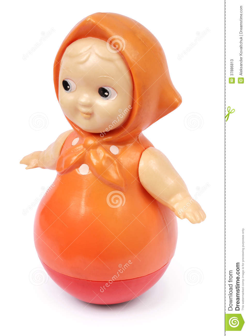 Old Plastic Doll (Clipping Path) Stock Photos - Image: 37886813