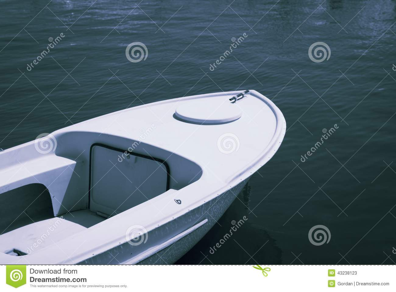 Old plastic small fishing boat in good condition stock for Small plastic fishing boats