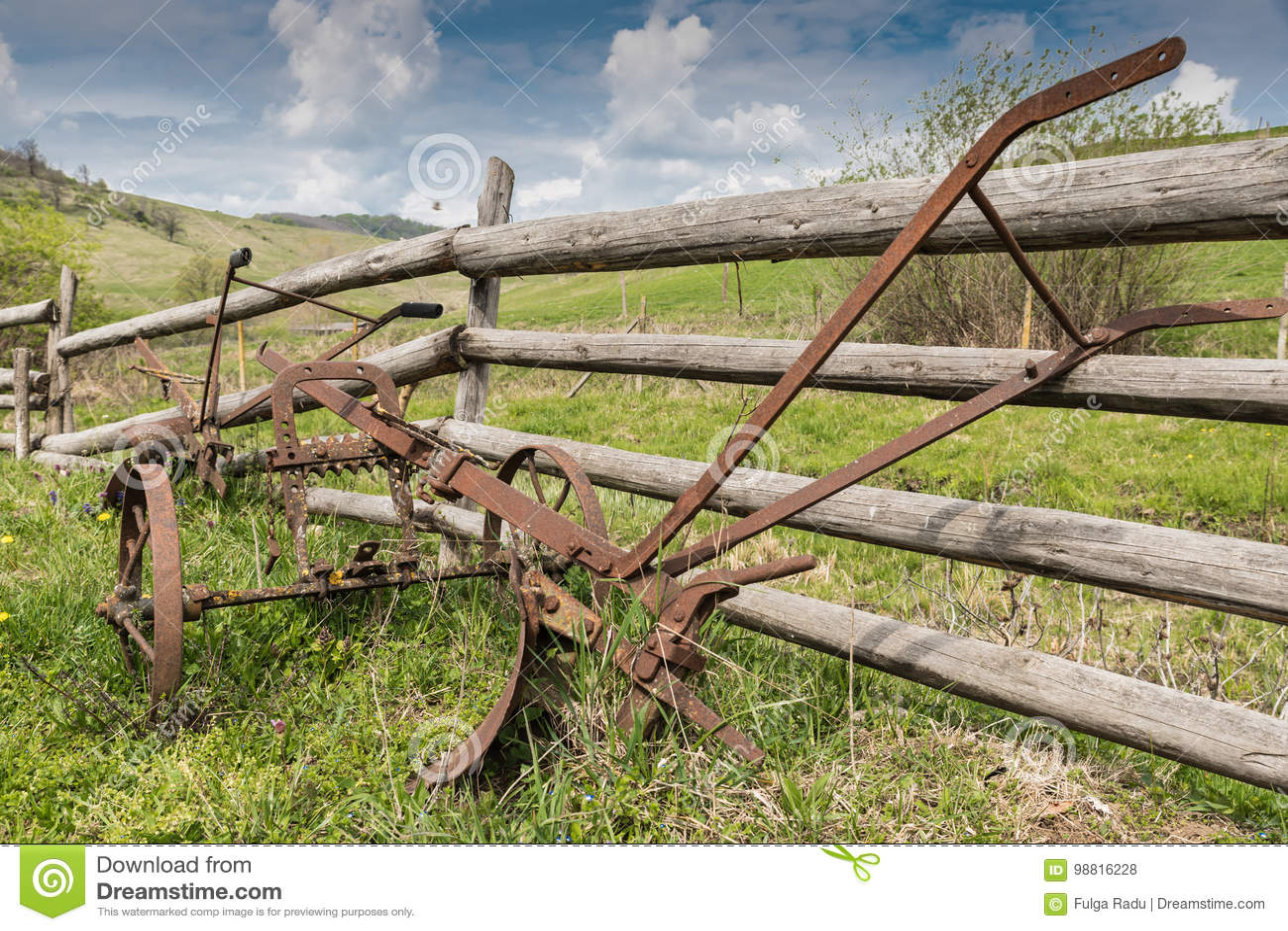 Old plowing tool