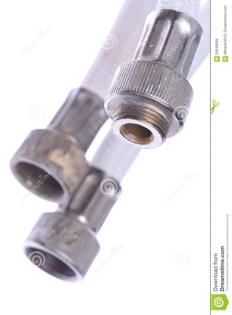 Old chrome faucet and water pipeline royalty free stock for What are old plumbing pipes made of