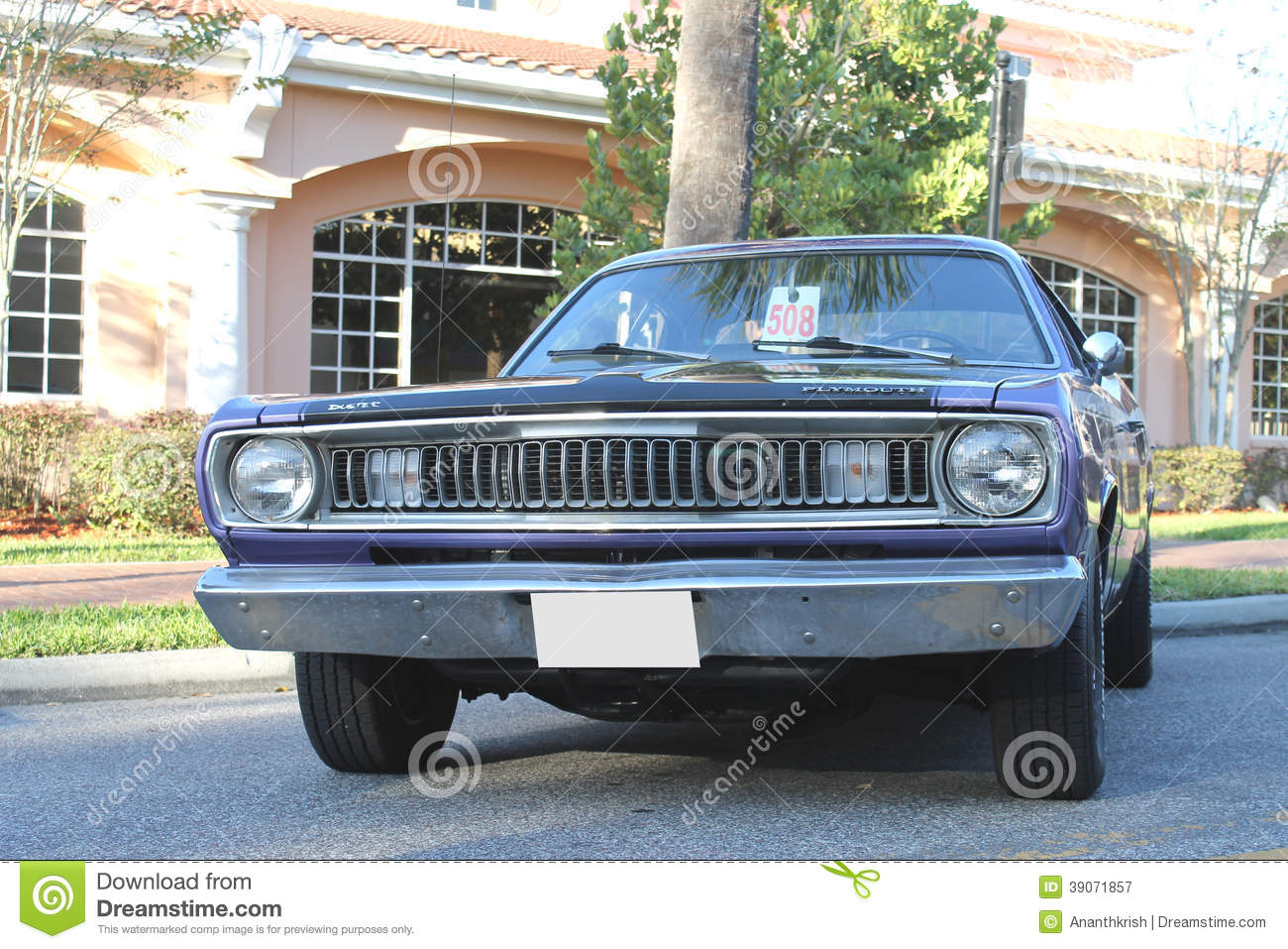 Old Plymouth Duster Car At The Car Show Editorial Photography ...