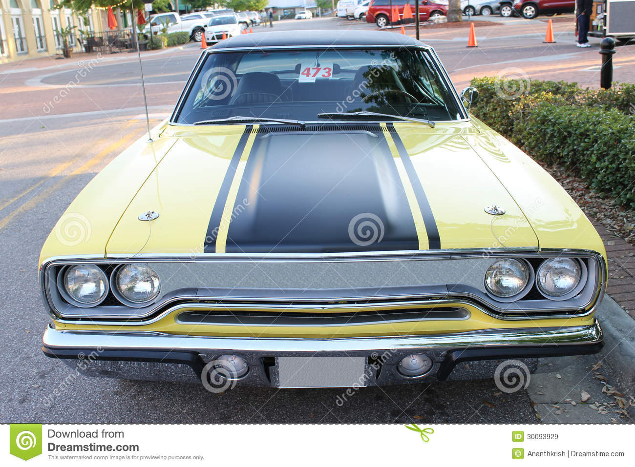 Old Plymouth GTX Car stock image. Image of maintain, vintage ...