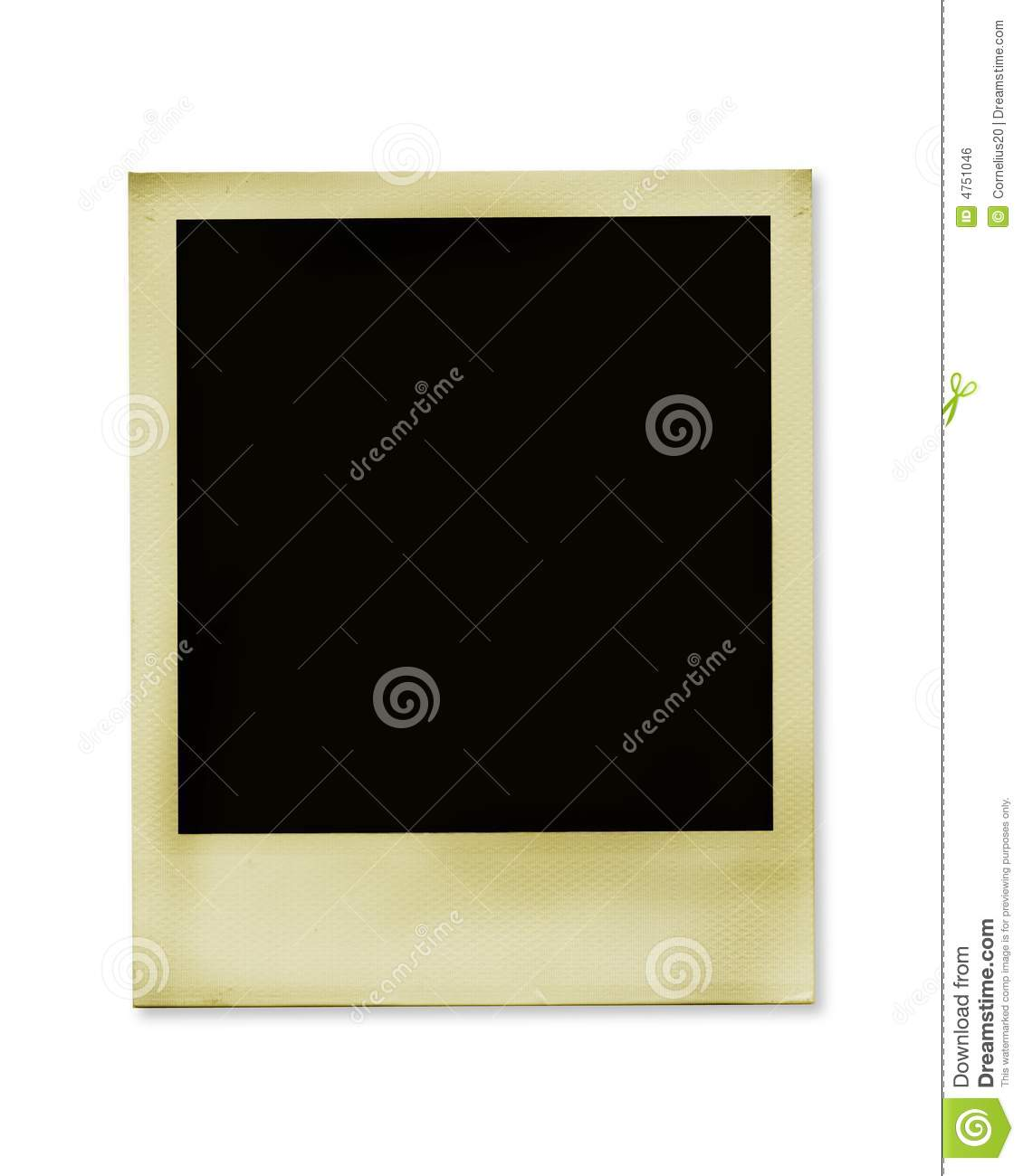 Old Polaroid Stock Photo Image Of Memory Isolated Past