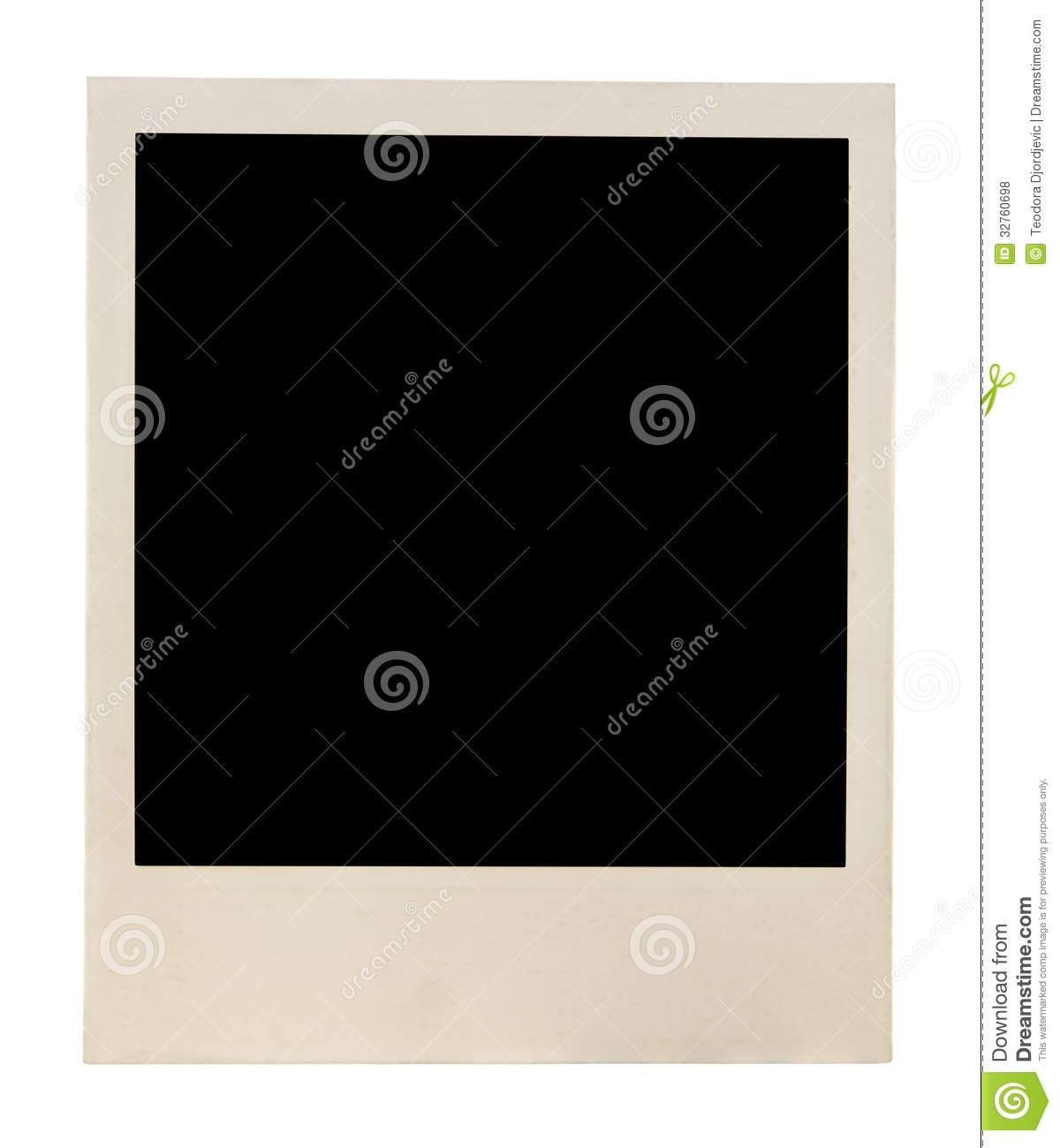 old polaroid blank picture stock photo  image of