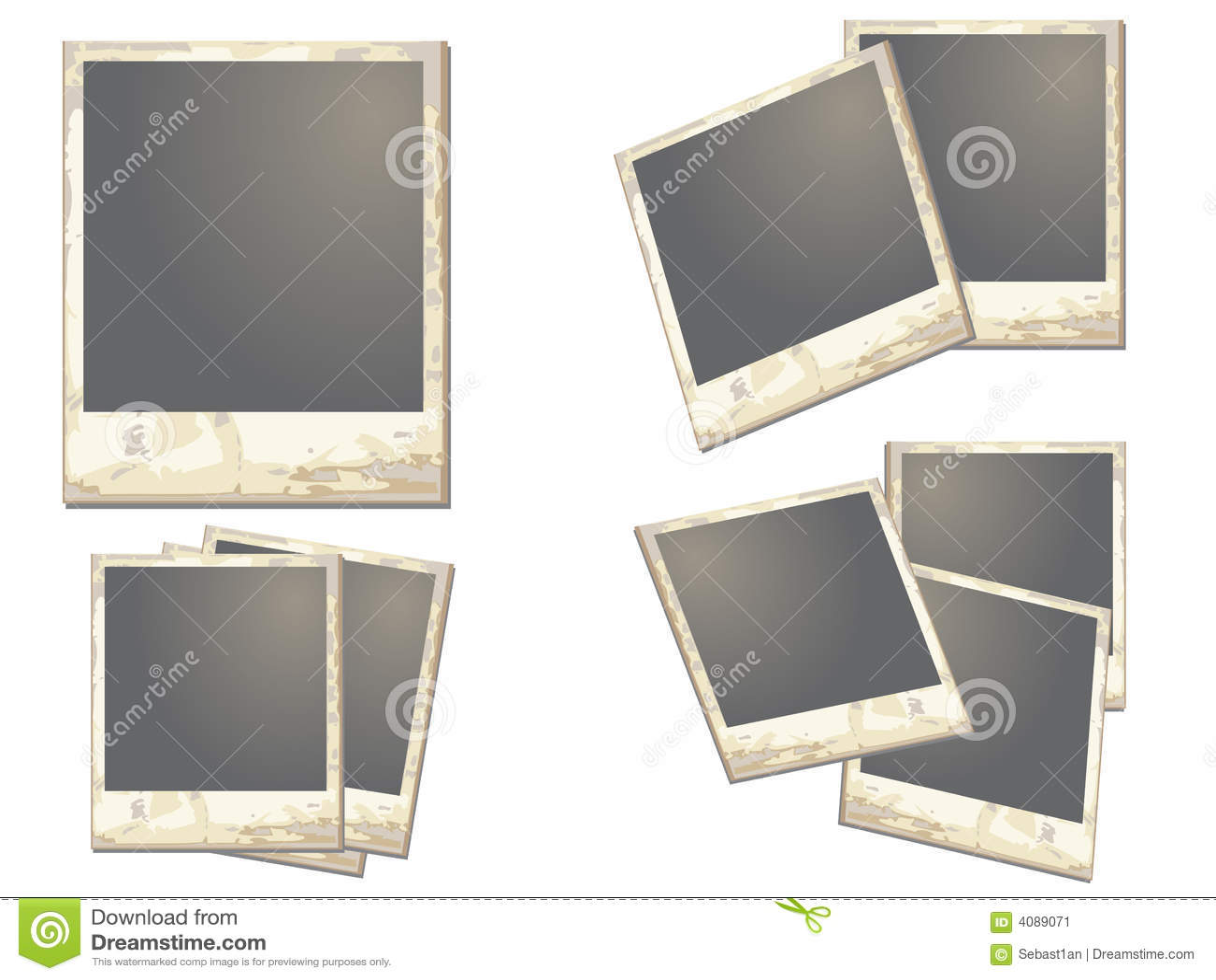 old polaroid frame stock vector  image of click  black