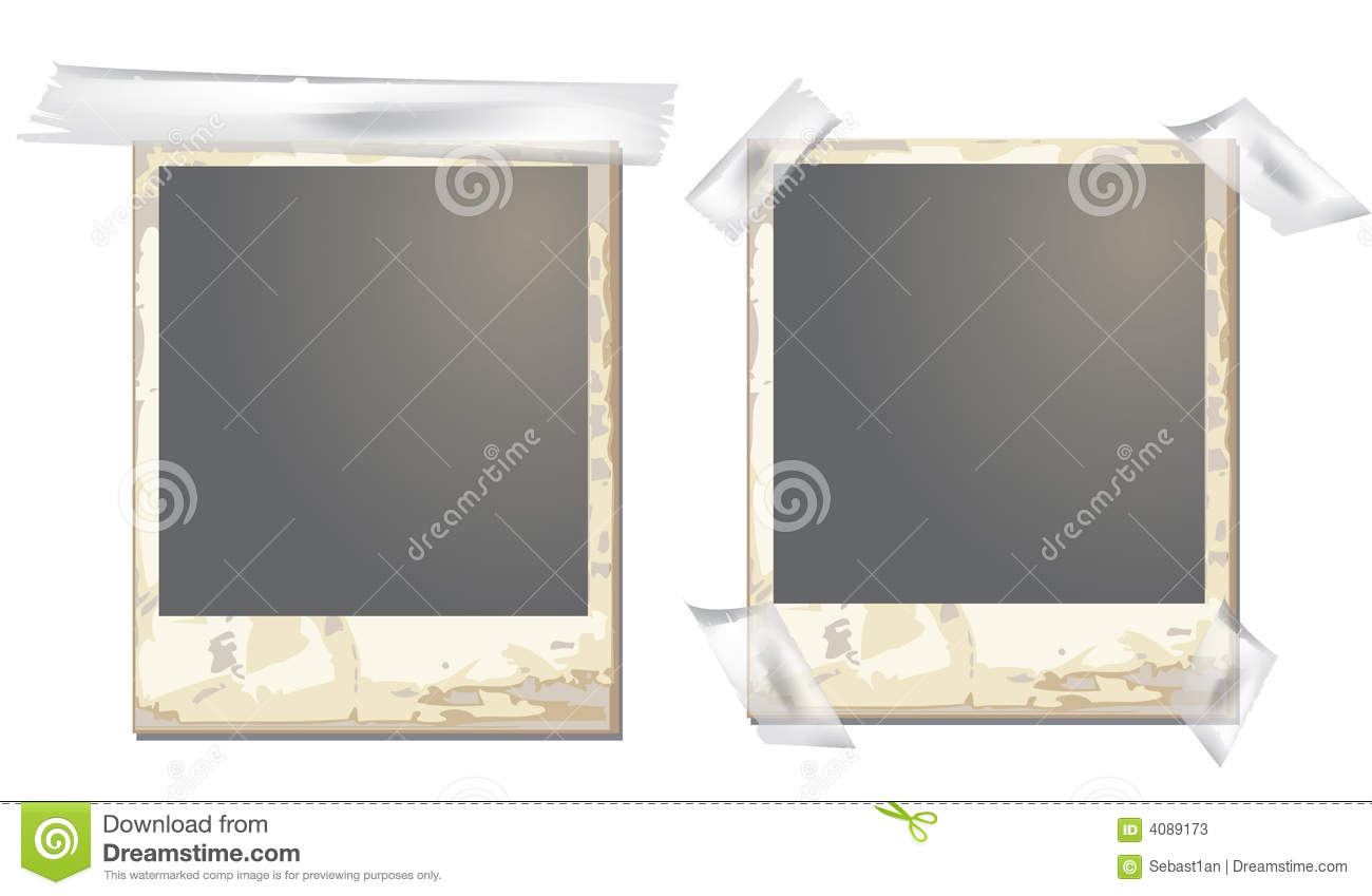 Old Polaroid Frame Stock Vector Image Of Clipping