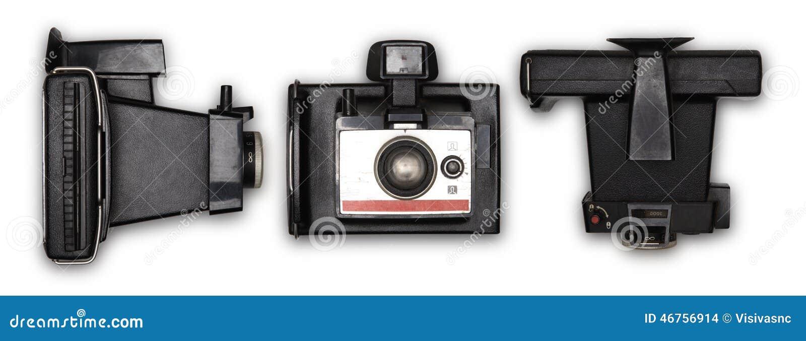 Old polaroid photo camera stock photo. Image of body ...
