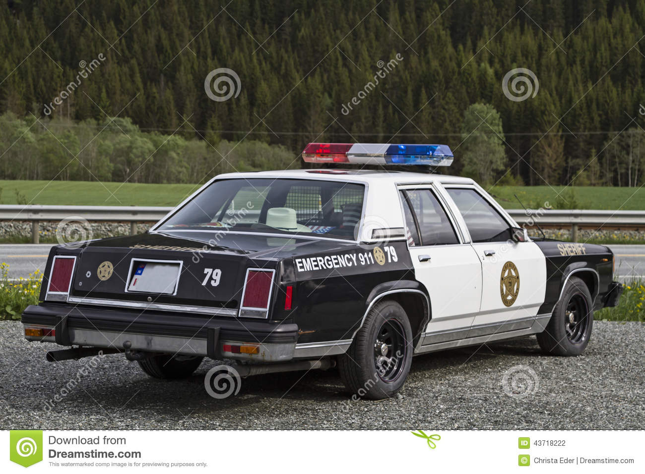 Old Police Car Stock Photo - Image: 43718222