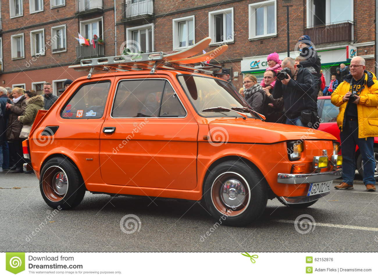 old polish car polski fiat 126p on a parade editorial photo image of headlights expensive. Black Bedroom Furniture Sets. Home Design Ideas