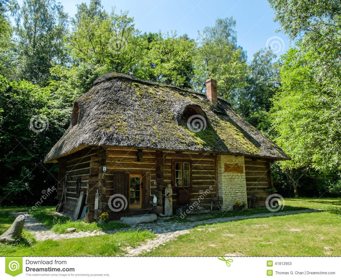 An Old Polish Cottage House Stock Photo Image 41812953