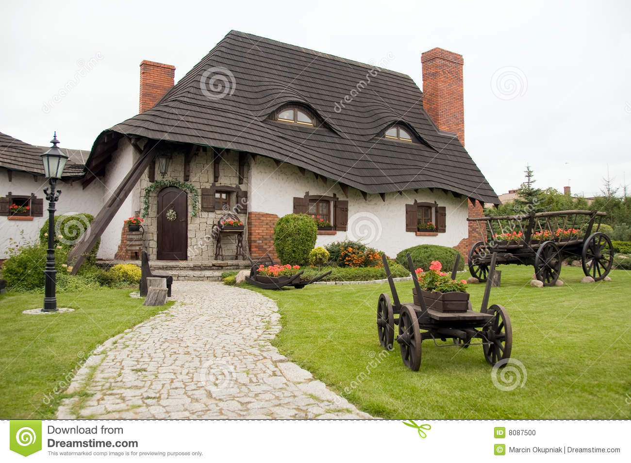 Old Polish House Stock Photo Image Of Front Fashioned 8087500
