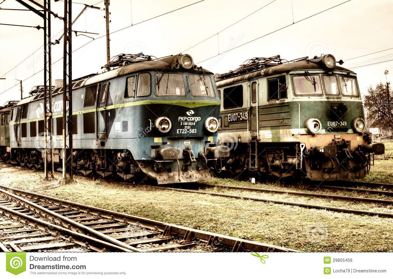 Old Polish Trains Editorial Photo Image Of Storage Steel