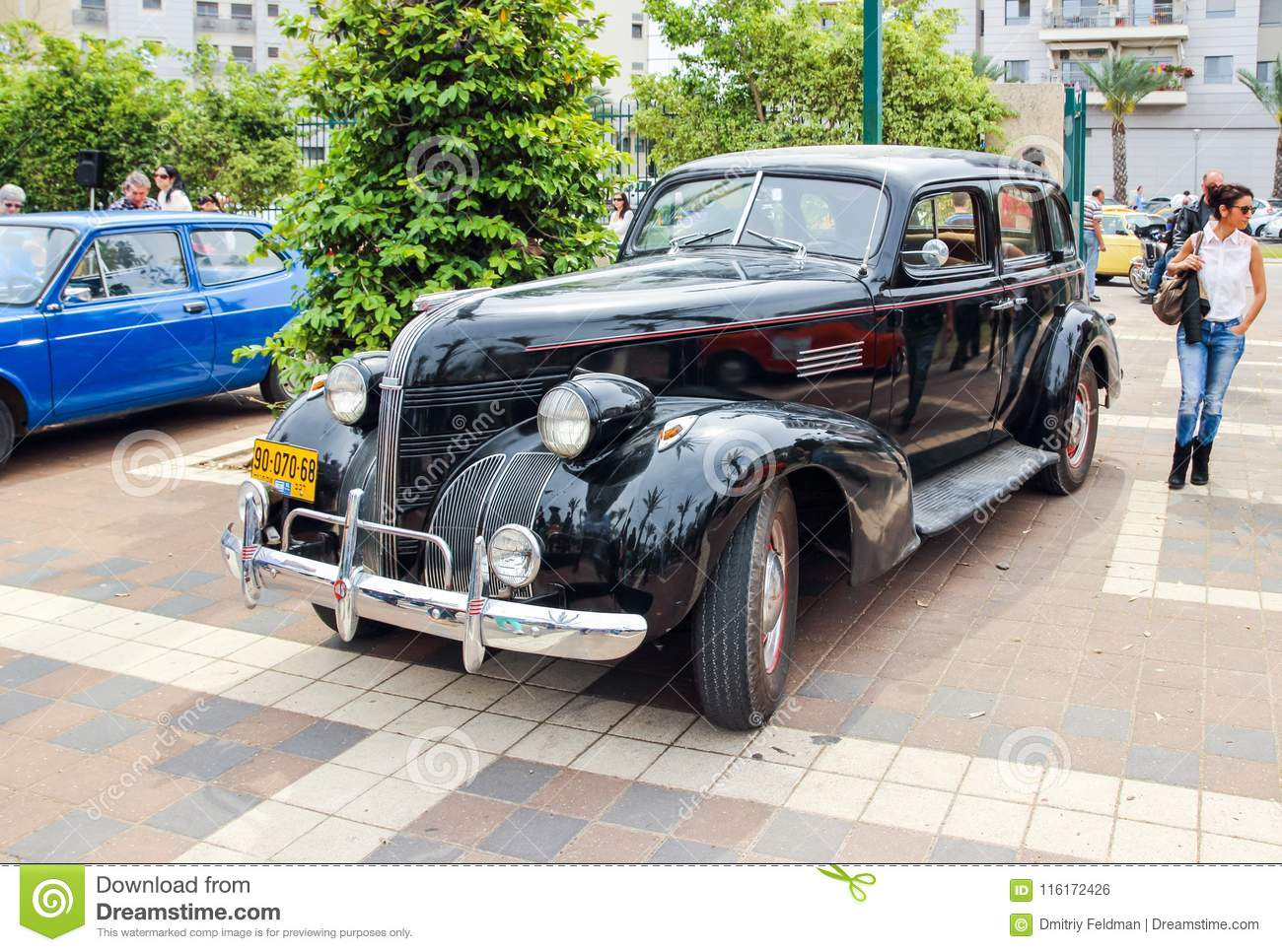 Old Pontiac At An Exhibition Of Old Cars In The Kiryat Motskin Editorial Photo Image Of Automobile Israel 116172426