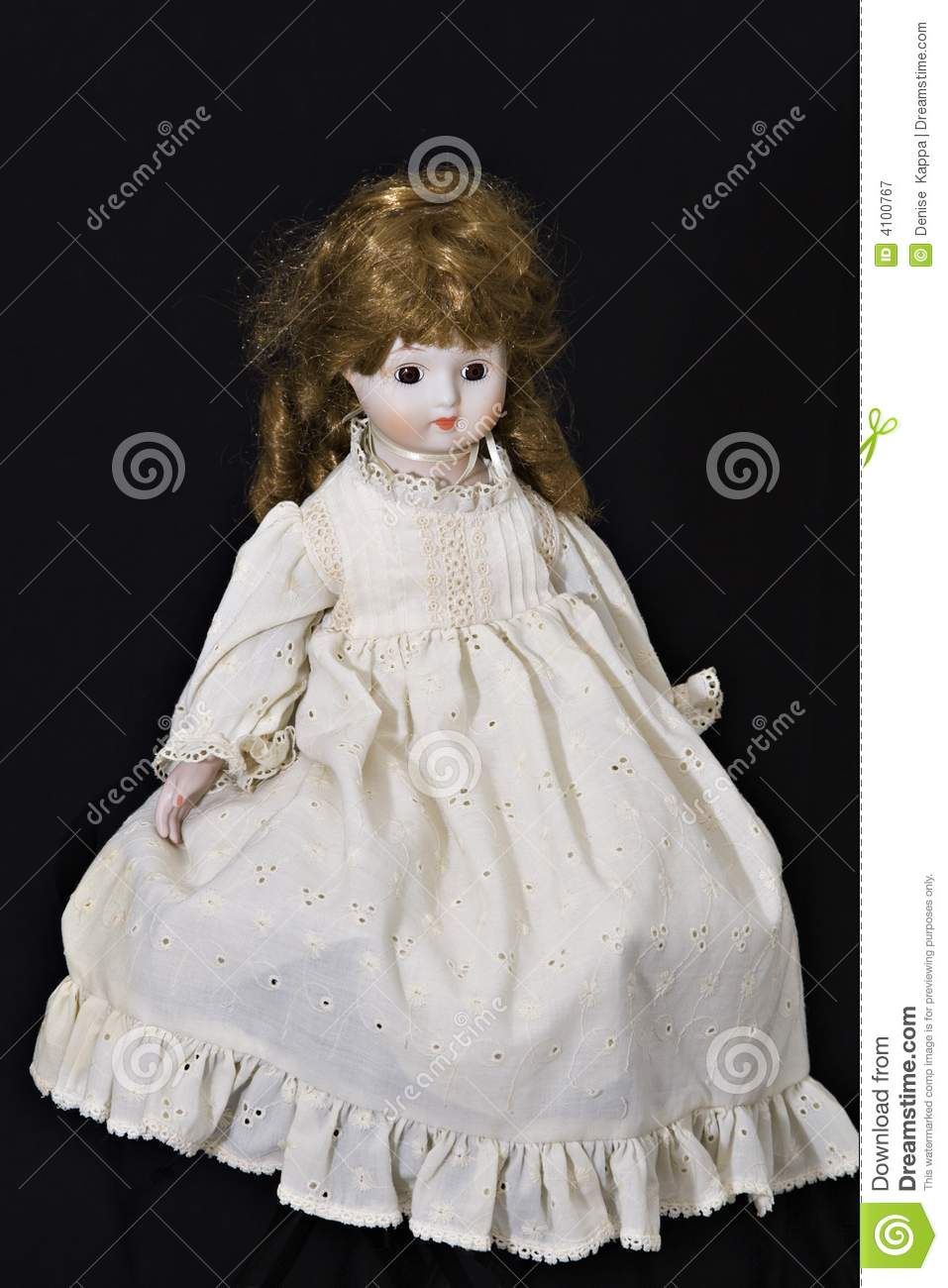 Old Porcelain Doll Royalty Free Stock Photography - Image