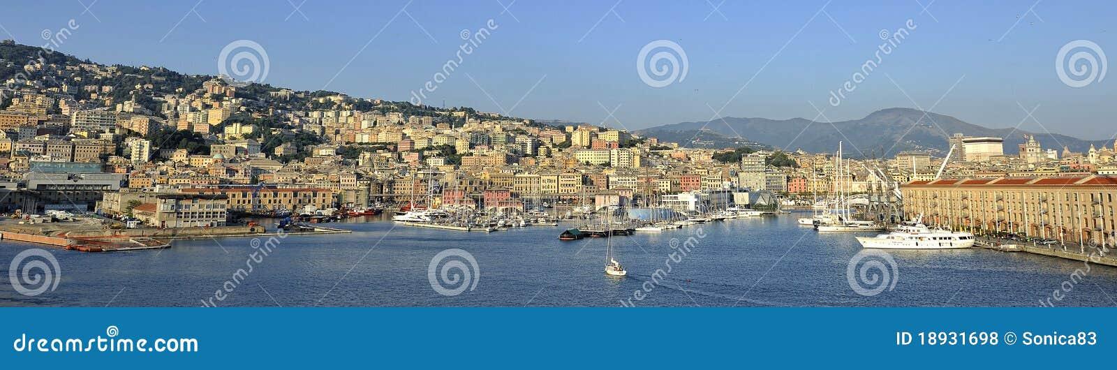 Old port of Genoa, panorama