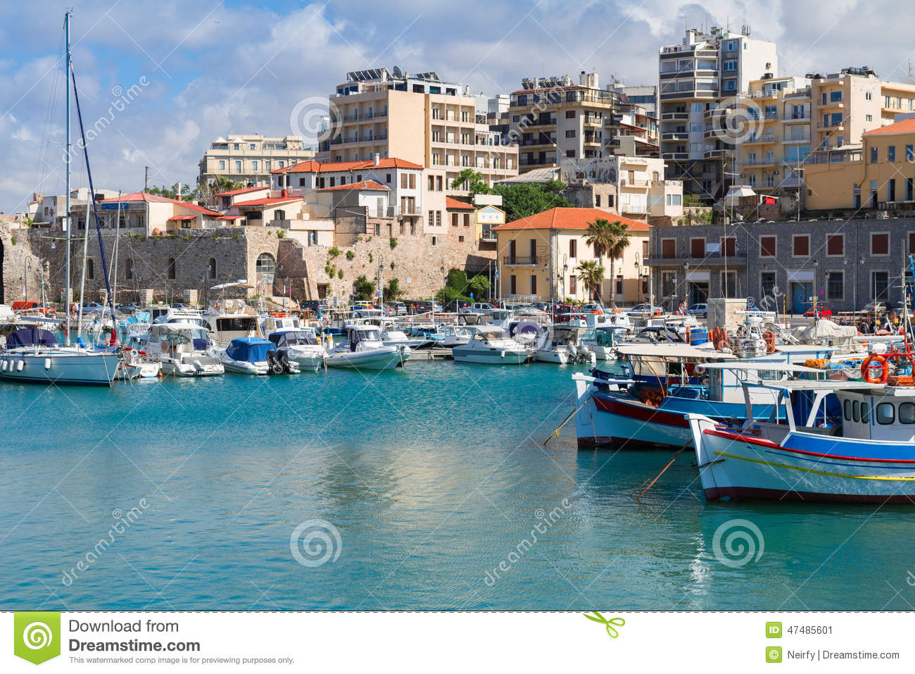 Old Port Of Heraklion Crete Greece Editorial Photo Image of
