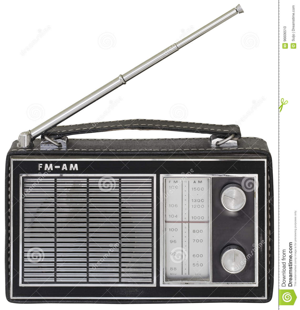 Old Portable Radio Cutout Stock Photo Image Of Path 96606510