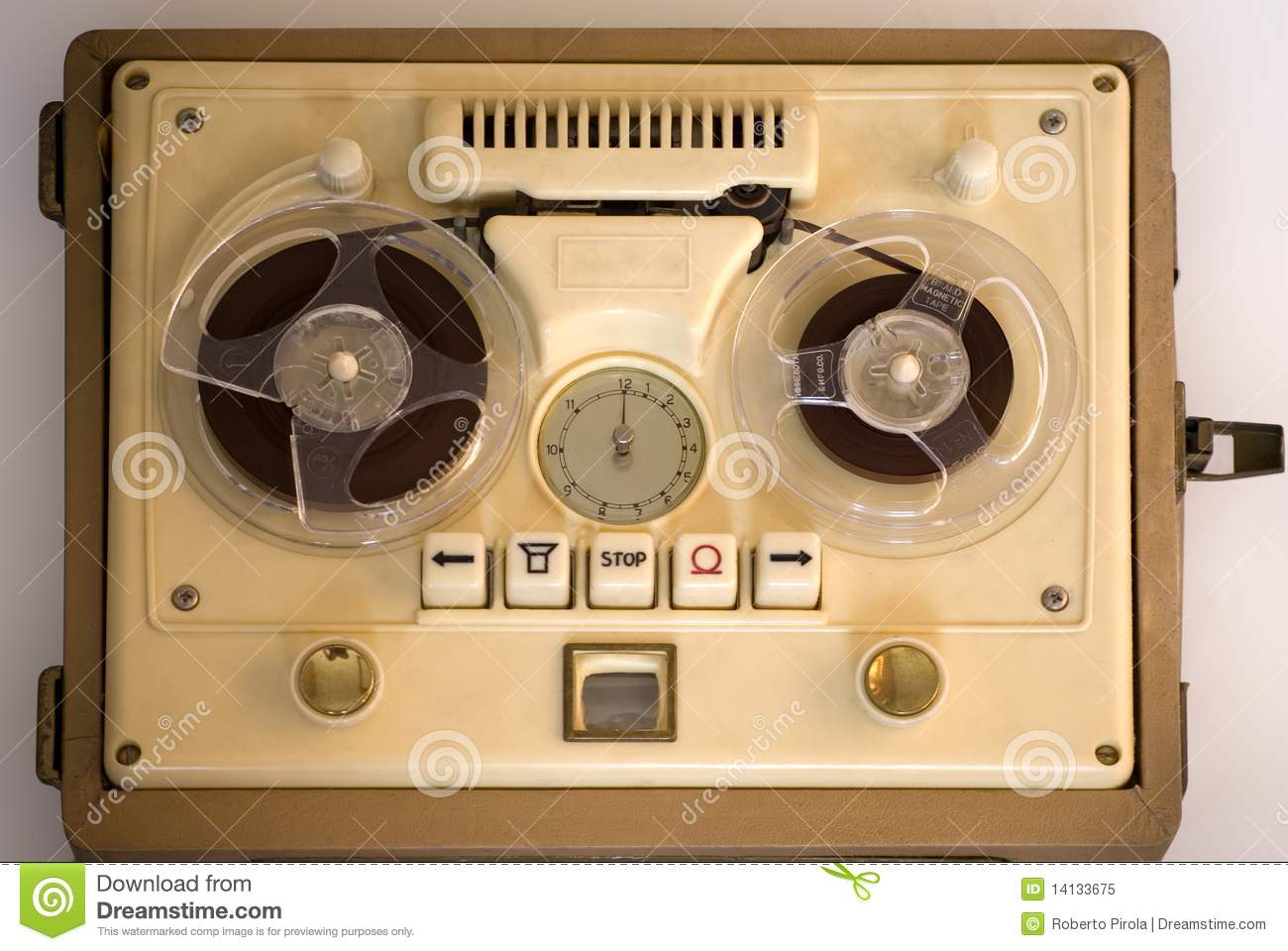 Old fashioned tape recorder 74