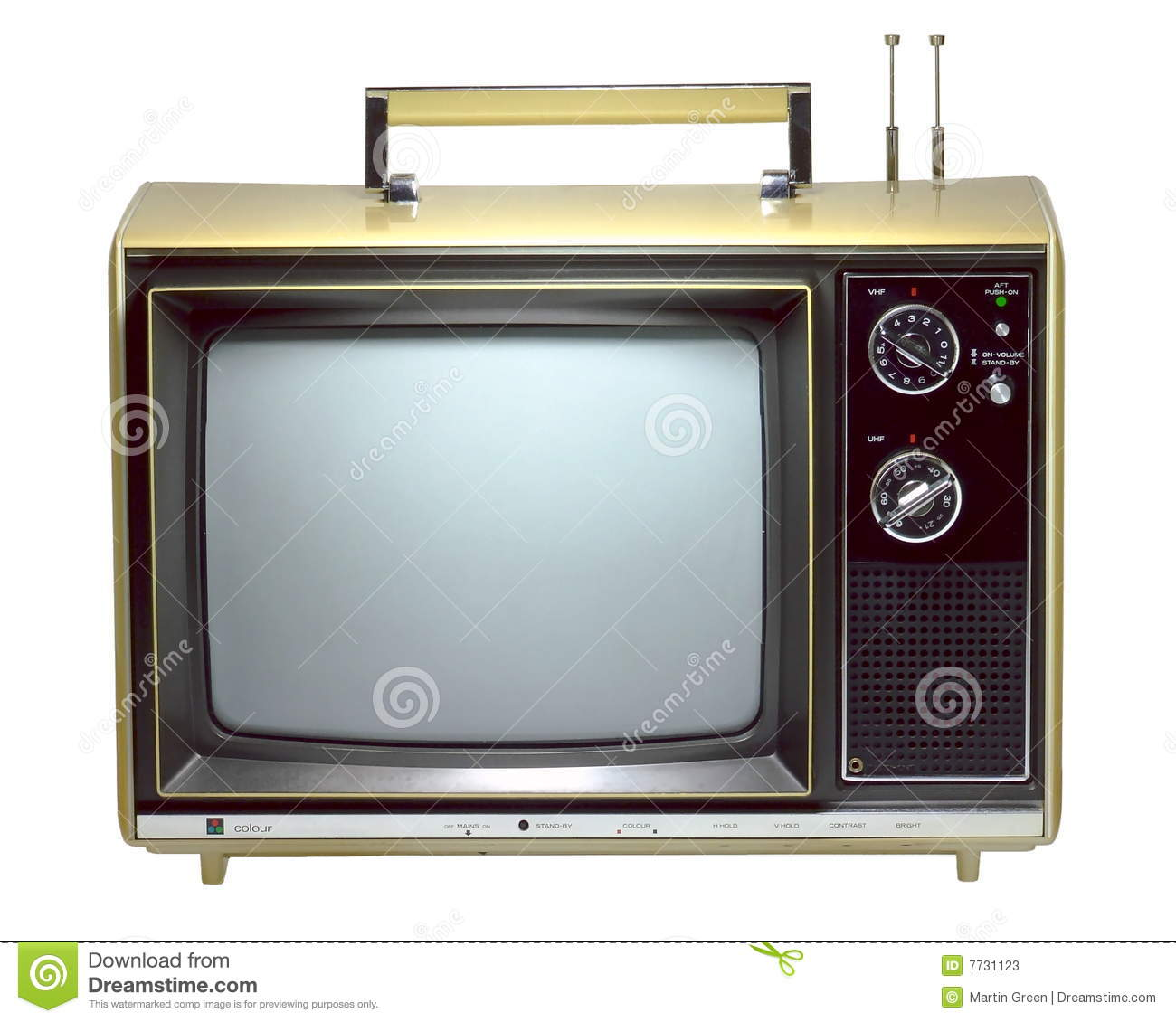 Old Portable Television Stock Photos Image 7731123