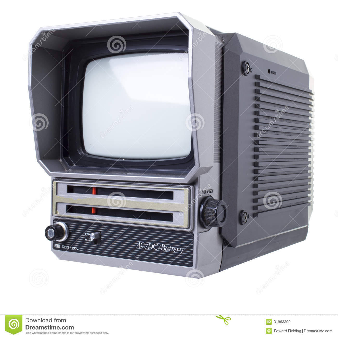 Old portable tv royalty free stock images image 31963309 for Free portable