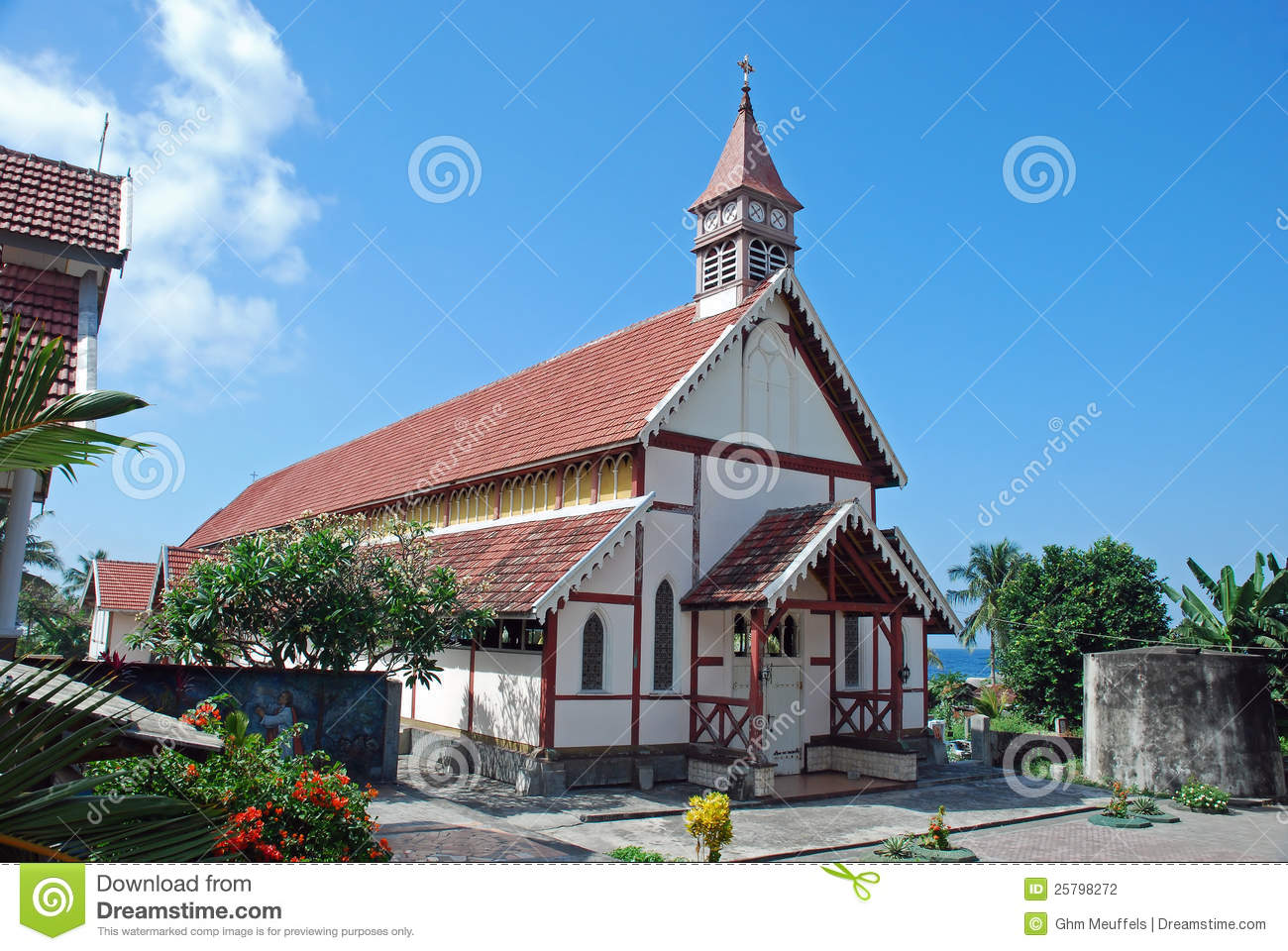 Old Portuguese Catholic church, Flores, Indonesia