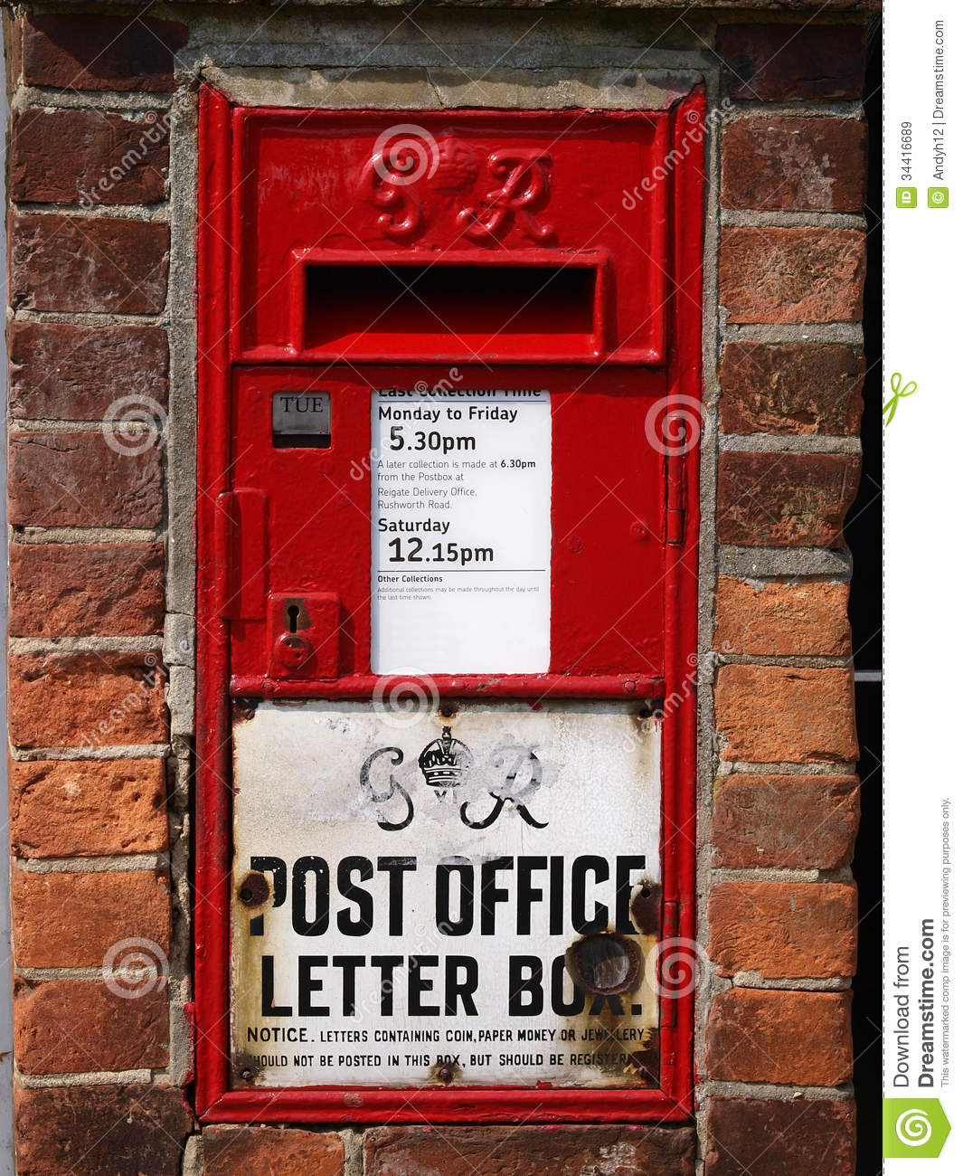 Old Post Box Stock Image. Image Of Mail, Royal, Letter