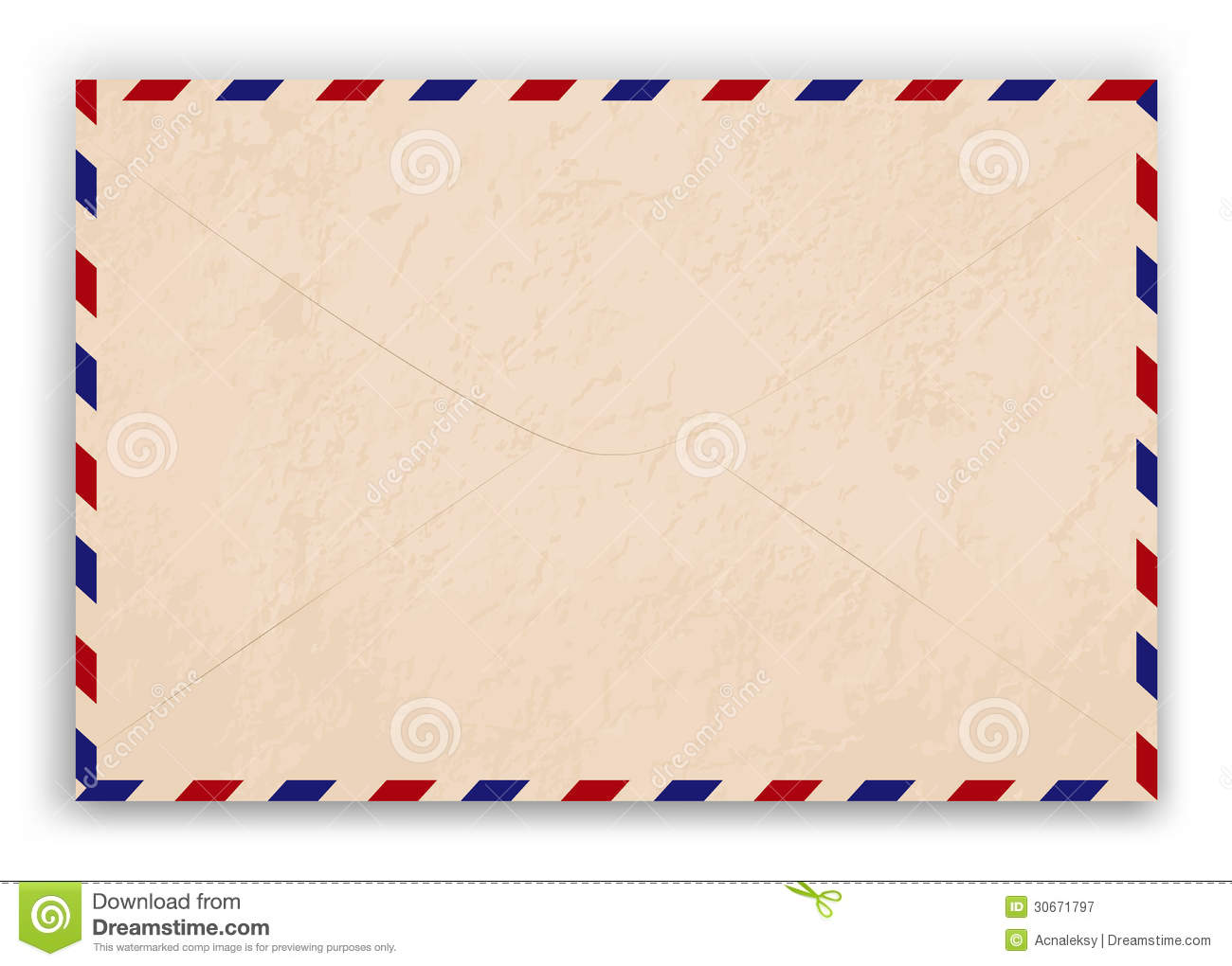 Old Post Envelope Royalty Free Stock Photography Image