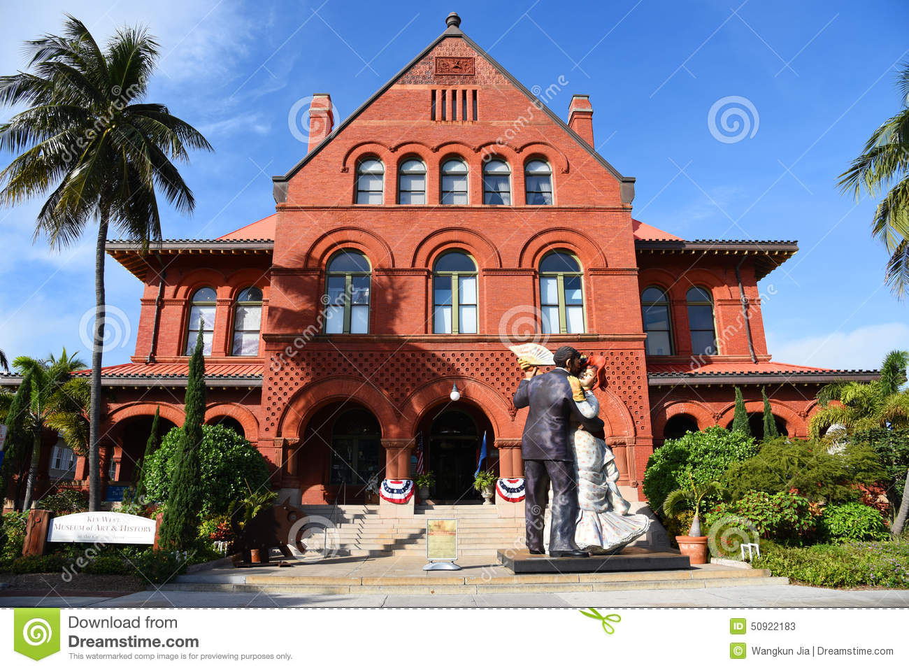 Old post office and custom house key west editorial stock for Classic house keys samplephonics