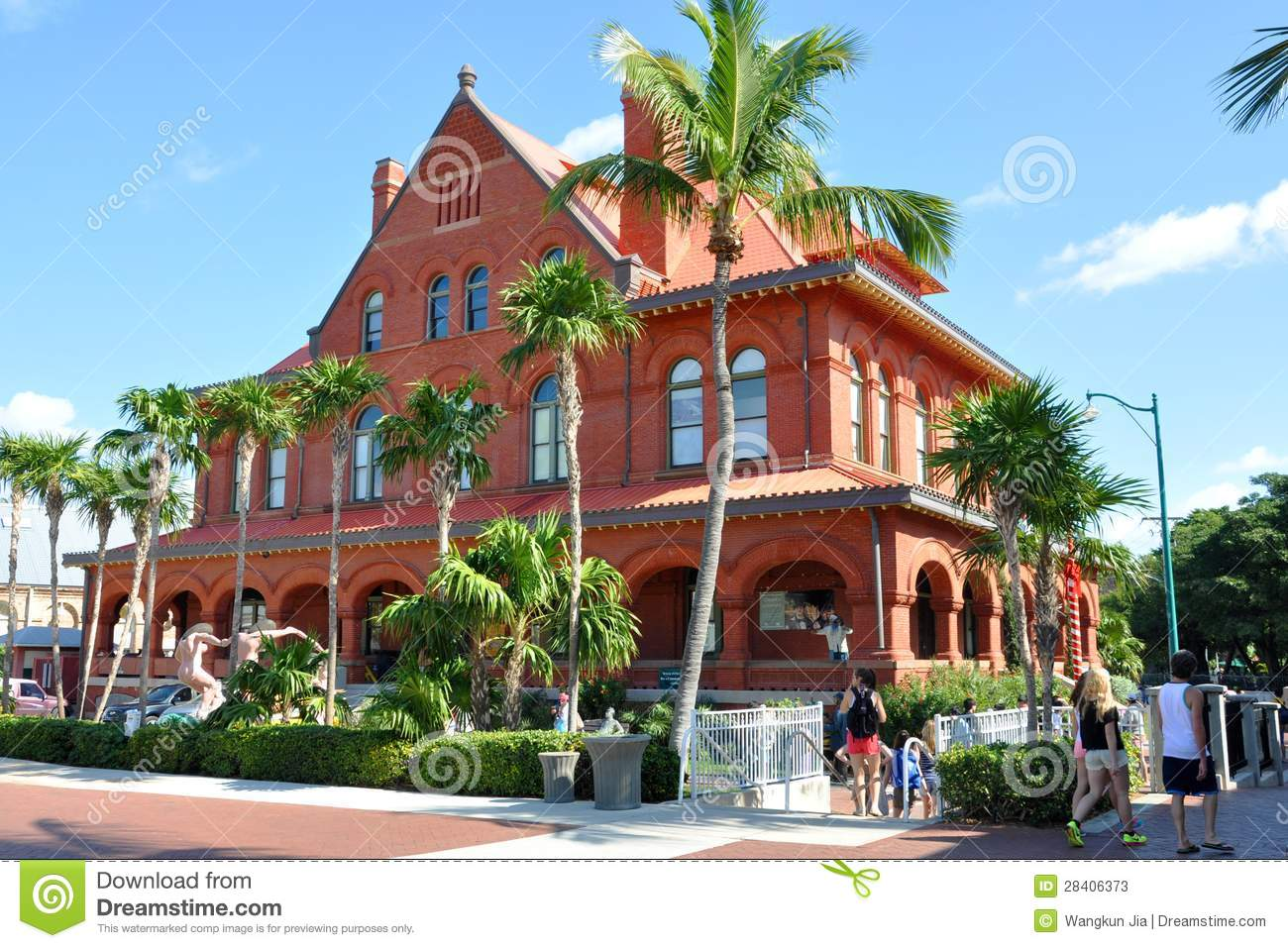 Old post office and custom house key west editorial stock for Classic house keys