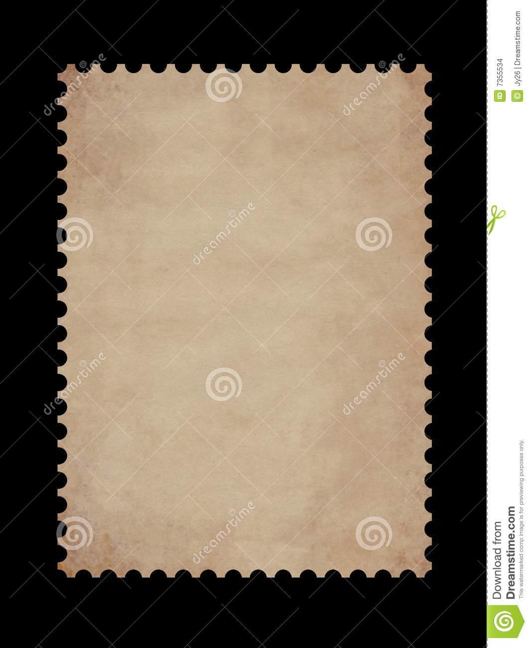 Old Postage Stamp Border Stock Images - Image: 7355534