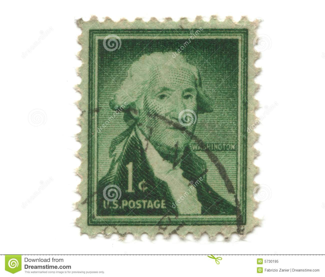 Old Postage Stamp From Usa One Cent Royalty Free Stock Photo Image 5730195