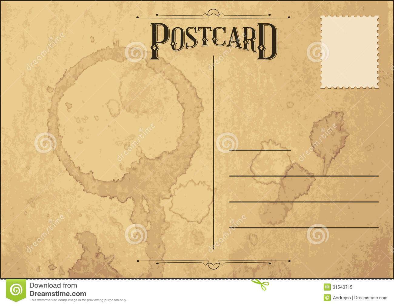 Old Postcard Royalty Free Stock Photo Image 31543715