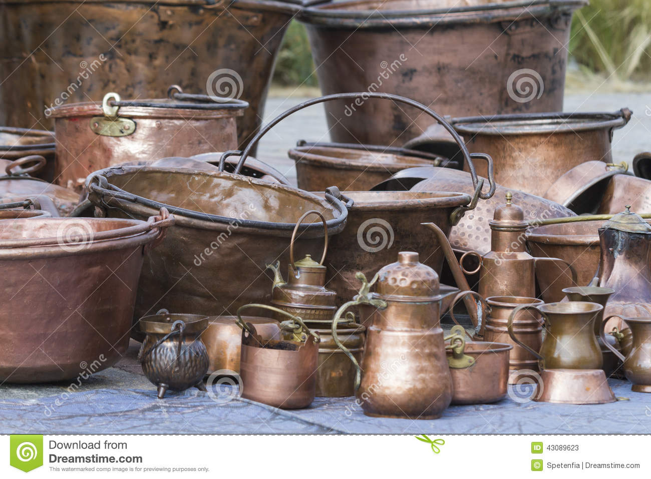 Old Pots And Pans Stock Photo - Image: 43089623
