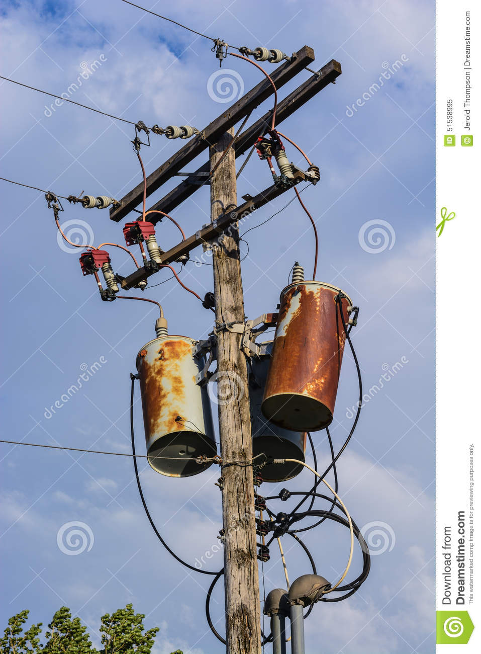 old power pole wood rusty transformers wires insulators fuses entrance heads electrical distribution 51538995 old power pole stock image image of insulators, wood 51538995