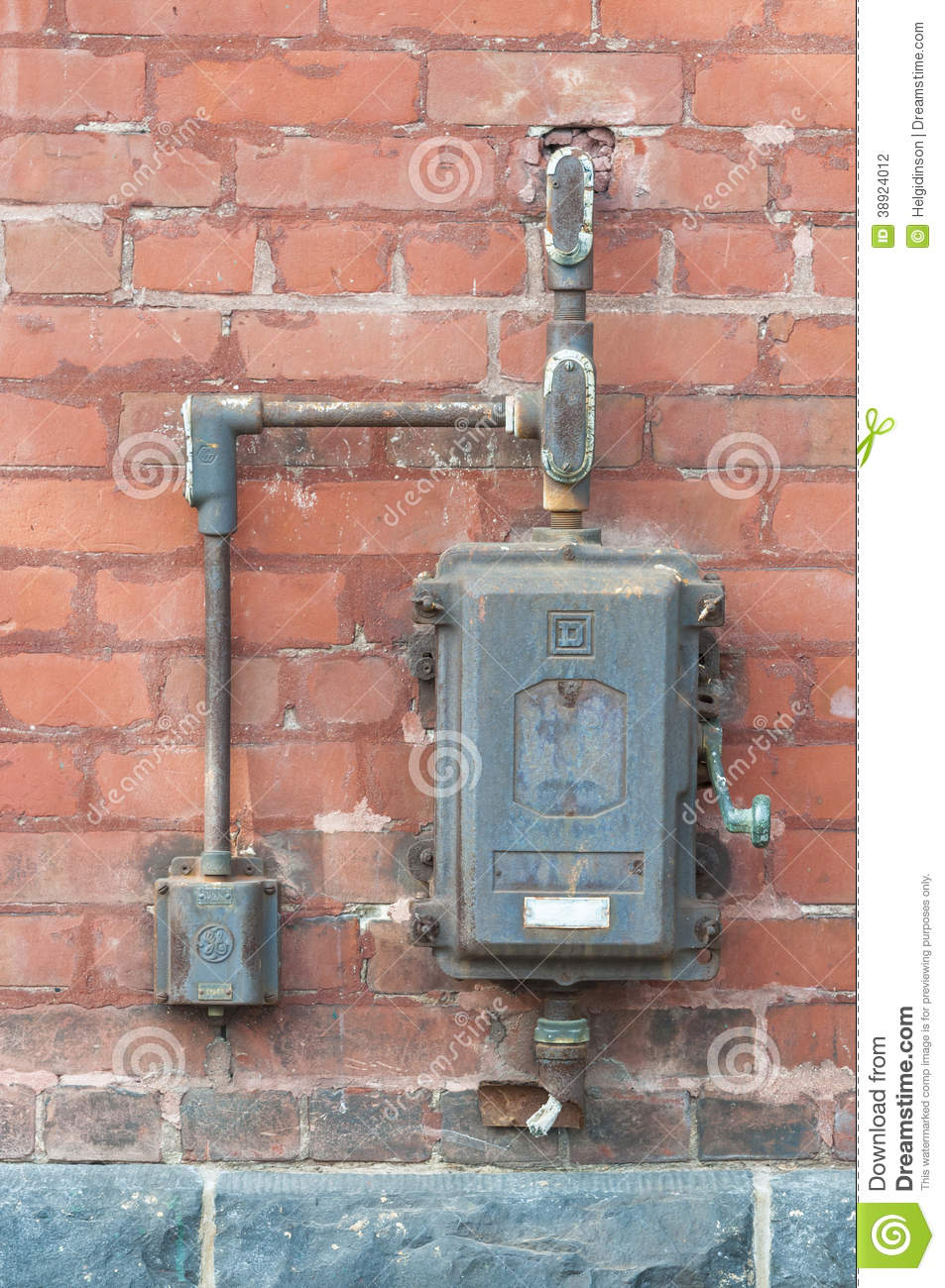 Old power switch box stock photo image 38924012 for What to do with old mailbox