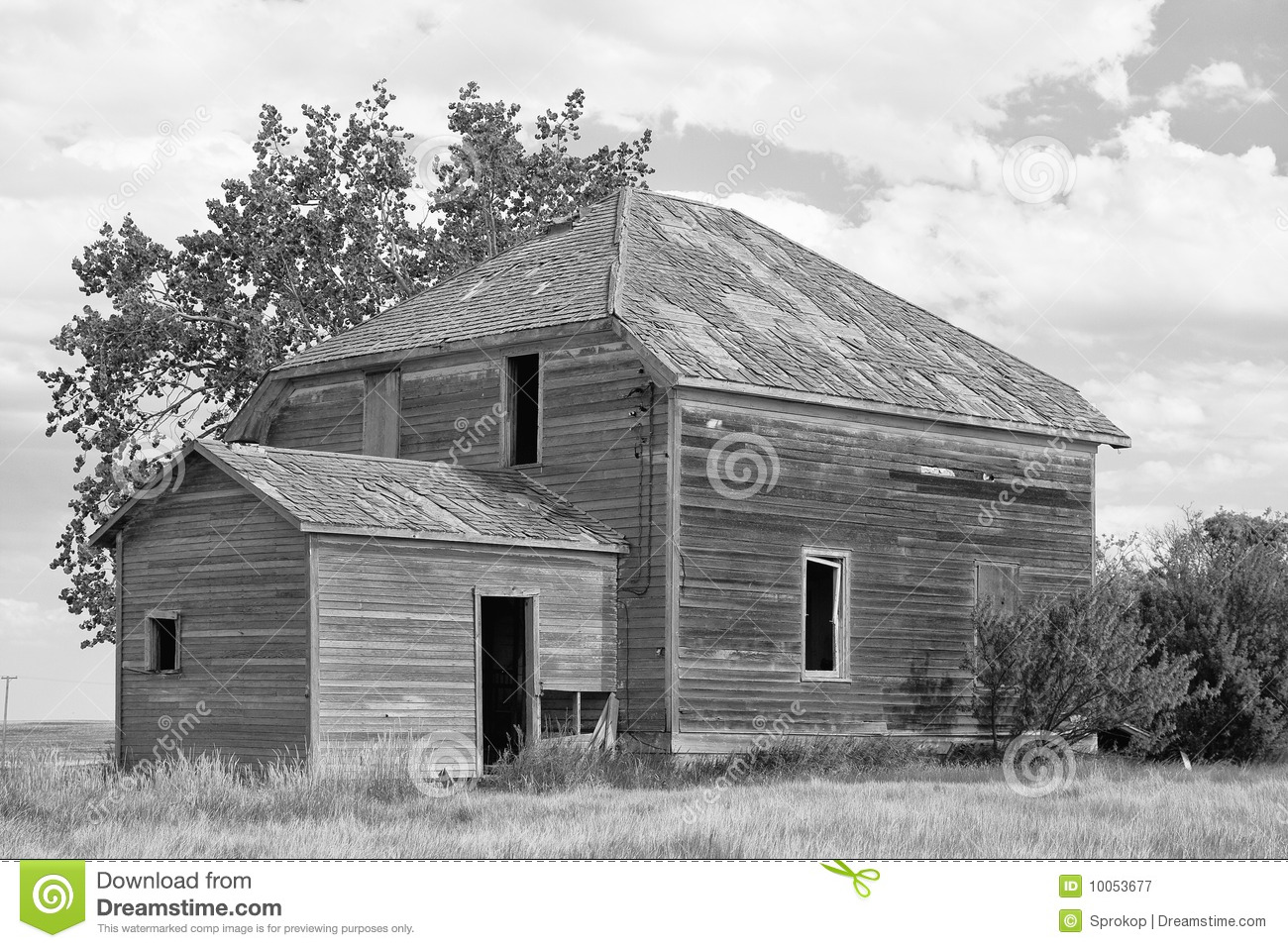 Download Old Prairie Farm House stock image. Image of house, home - 10053677